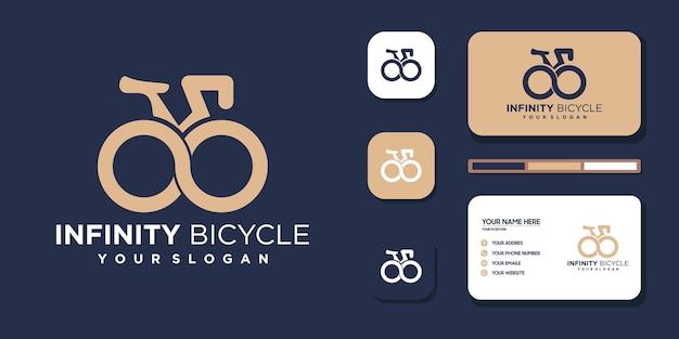 Bicicleta infinita. logotipo e referência do cartão de visita