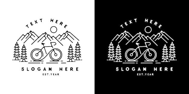 Bicicleta mountain monoline design