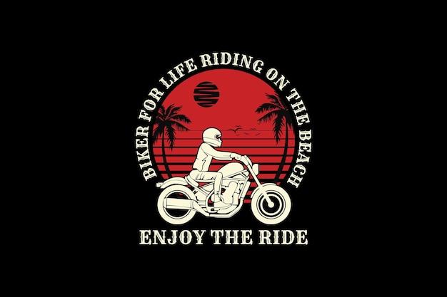 Bicicleta para a vida, design de silhueta estilo retro