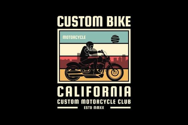 Bicicleta personalizada da califórnia, design elegante em estilo retro