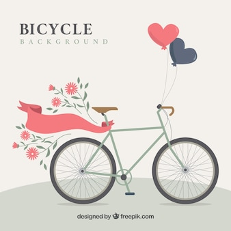 Bicicleta plana com elementos adoráveis