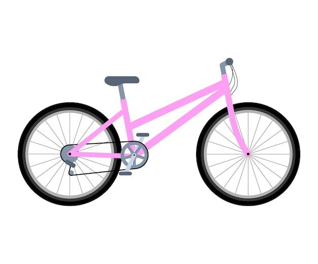 Bicicleta rosa feminina ciclismo ecológico