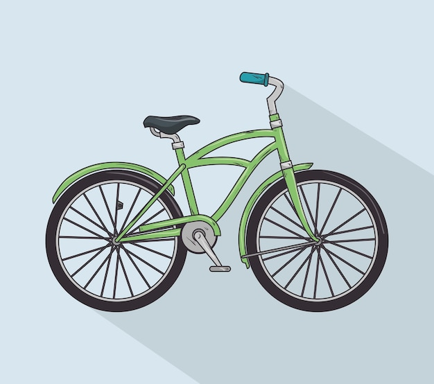 Bicicleta vintage isolado ícone do design
