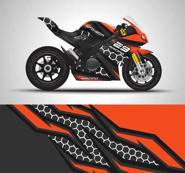 Bicicletas esportivas envolvem decalque e ilustração de adesivo de vinil