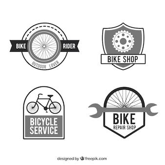 Bicicletas fixas e peças emblemas