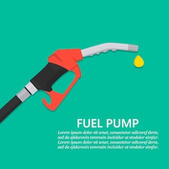 Bico da bomba de gasolina com queda