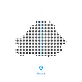 Bielorrússia pontilhada mapa vector design