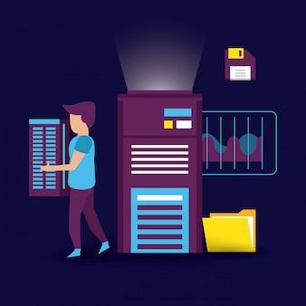 Big data e colega de trabalho