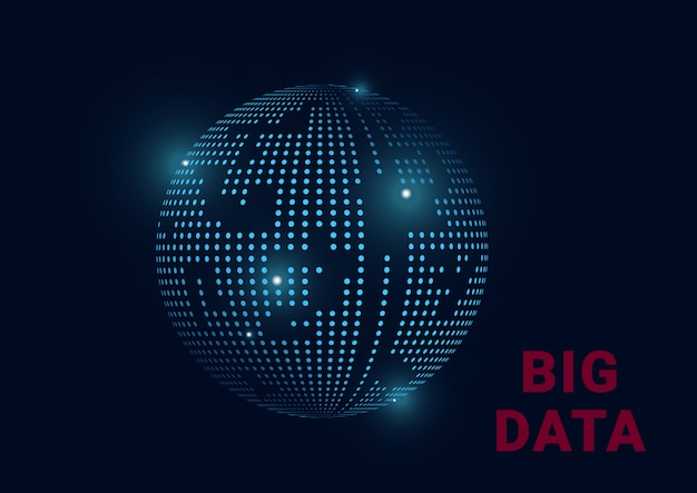 Big data information planet earth
