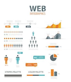 Big infographic vector illustration web element set