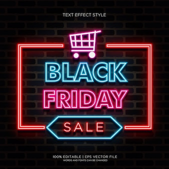 Big sale black friday neon effects