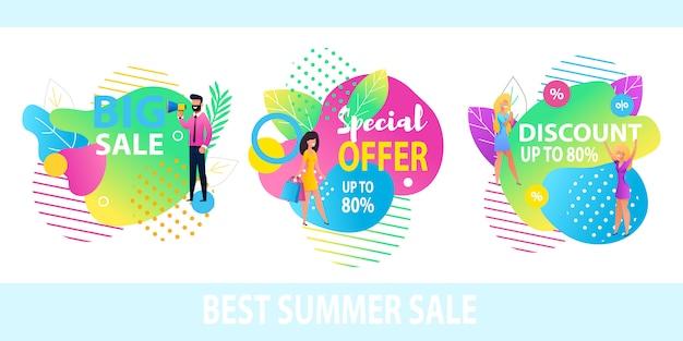 Big sale special offer melhor desconto banner set
