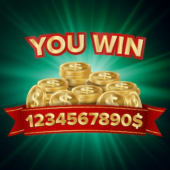 Big win banner para casino online