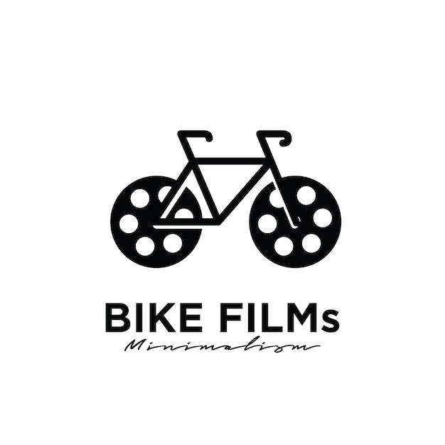Bike movies design de logotipo da studio movie film production