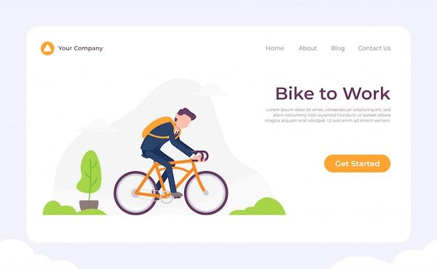 Bike to work landing page