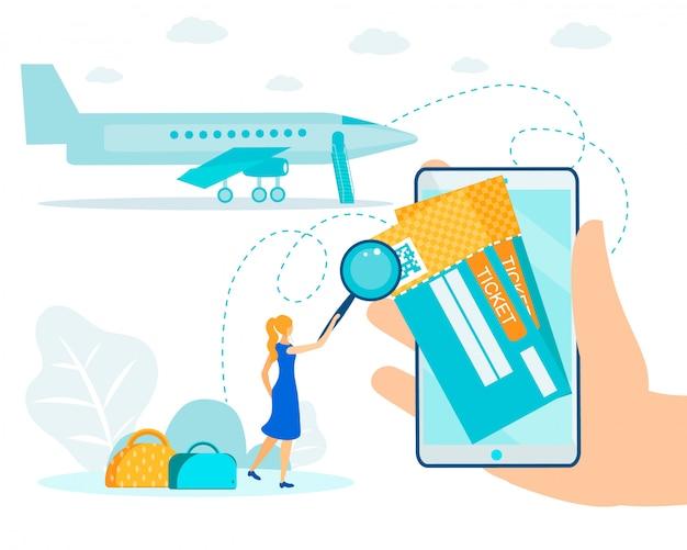 Bilhete aéreo eletrônico e sistema de check-in online