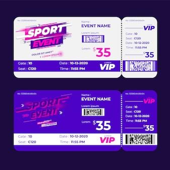 Bilhete de evento esportivo de competição