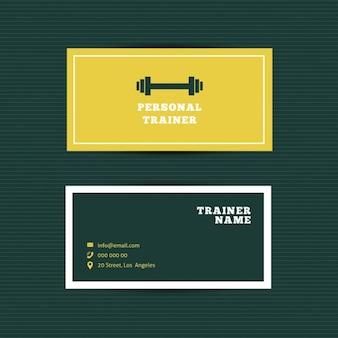 Bilhete de identidade personal trainer