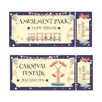 Bilhete do parque de diversões