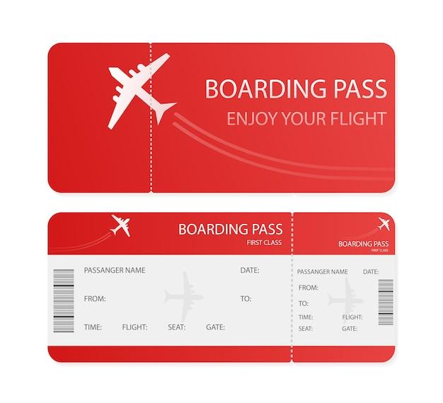 Bilhetes de avião vazios para. ilustração. conceito de negócios. template.