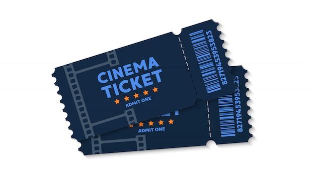Bilhetes de cinema em segundo plano. passe o bilhete no filme. ilustração