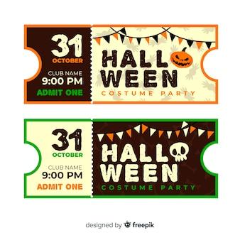 Bilhetes de cinema vintage para o halloween