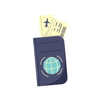 Bilhetes de embarque com passaporte de avião