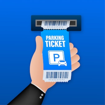 Bilhetes de estacionamento, excelente design para qualquer finalidade. zona de estacionamento. ilustração das ações.