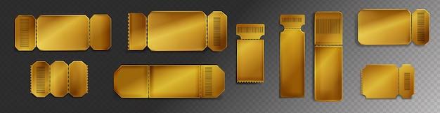 Bilhetes de ouro para o cinema, concerto ou festival