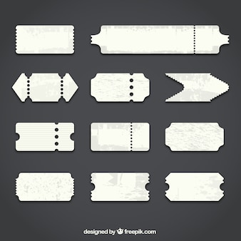 Bilhetes em branco