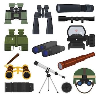 Binóculos vector equipamento óptico luneta óptica olhar-ver olhando longe vista ilustração