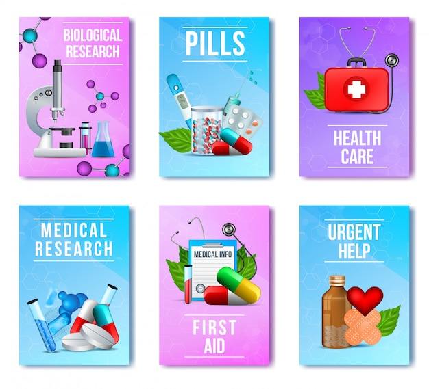 Biológico, pesquisa médica, comprimidos, conjunto de primeiros socorros