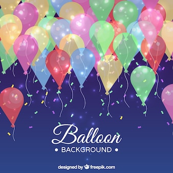 Birhtday balões fundo para comemorar