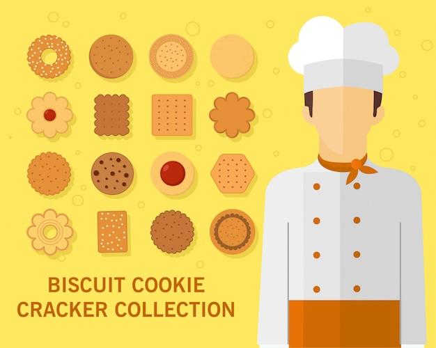 Biscoito biscoito biscoito coleção
