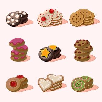Biscoitos de comida dos desenhos animados