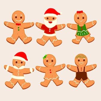 Biscoitos de gengibre de mão desenhada