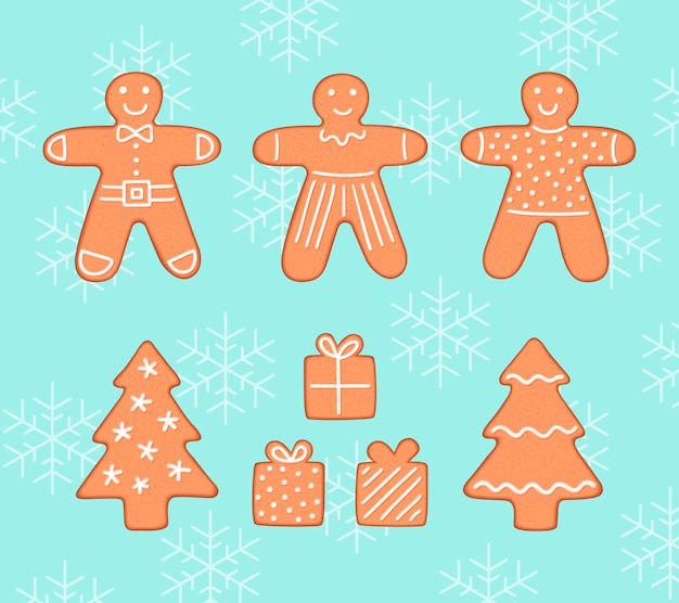 Biscoitos de gengibre pacote de natal