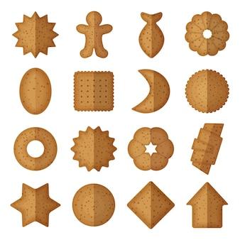 Biscoitos em diferentes formas.