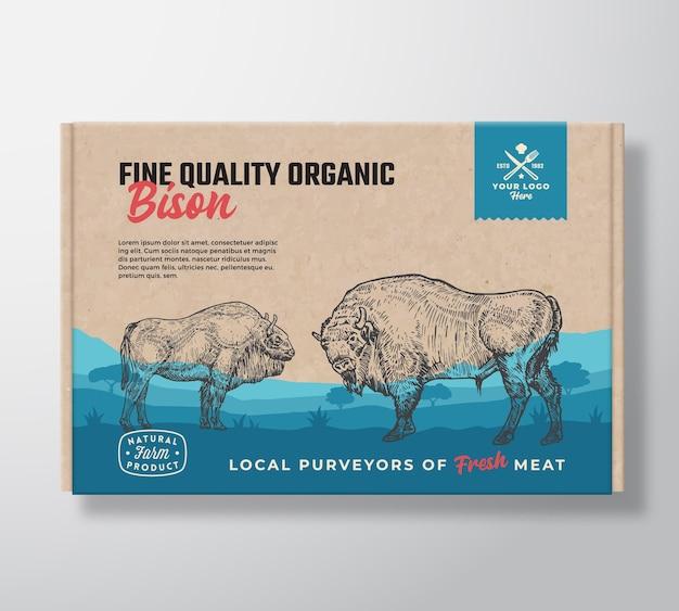 Bisonte orgânico de boa qualidade.