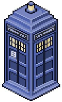 Bit do jogo da cabine telefônica em inglês do pixel art