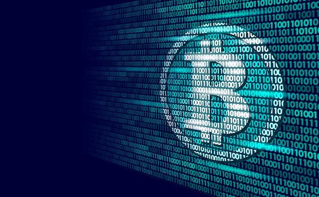 Bitcoin criptomoeda digital assina número de código binário, big data