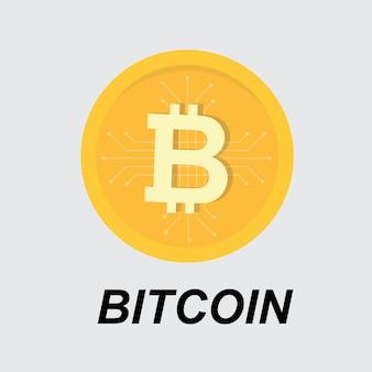 Bitcoin crypto currency blockchain logo plana
