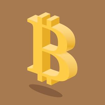 Bitcoin cyrptocurrency 3d logo
