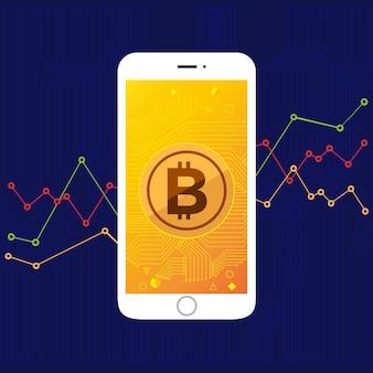 Bitcoin de tela móvel