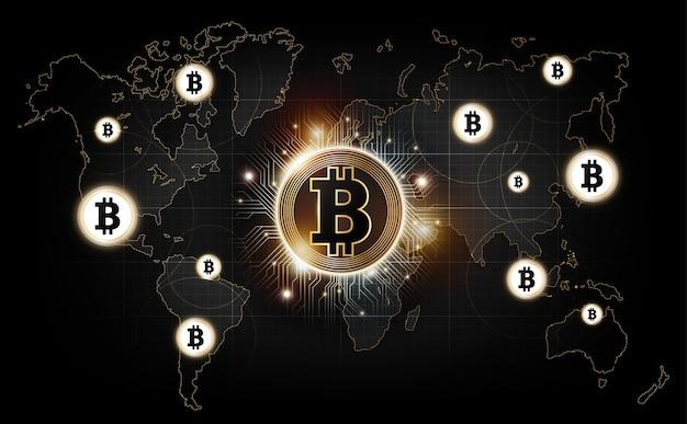 Bitcoin digital moeda tecnologia rede mundial