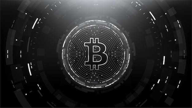 Bitcoin futuristic scifi technology criptomoeda