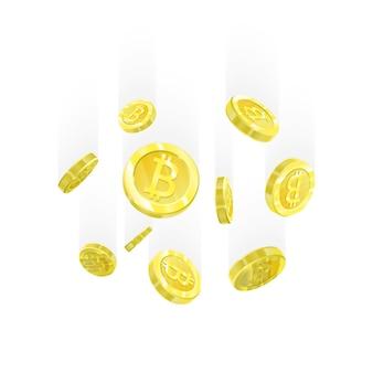 Bitcoin ilustração em vetor de um padrão realista