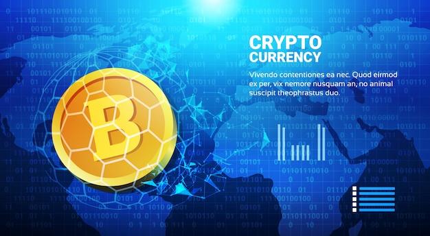 Bitcoin no conceito de transferência de dinheiro de mapa mundo crypto sistema de pagamento de moeda digital