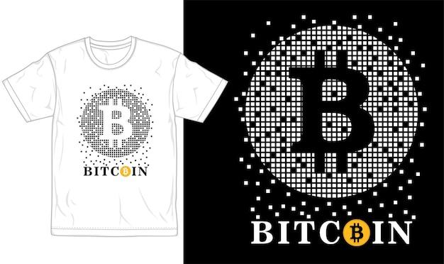 Bitcoin t shirt design gráfico tipografia e logotipo