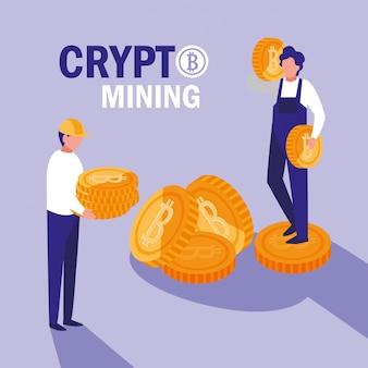 Bitcoins de mineração de criptografia de equipe